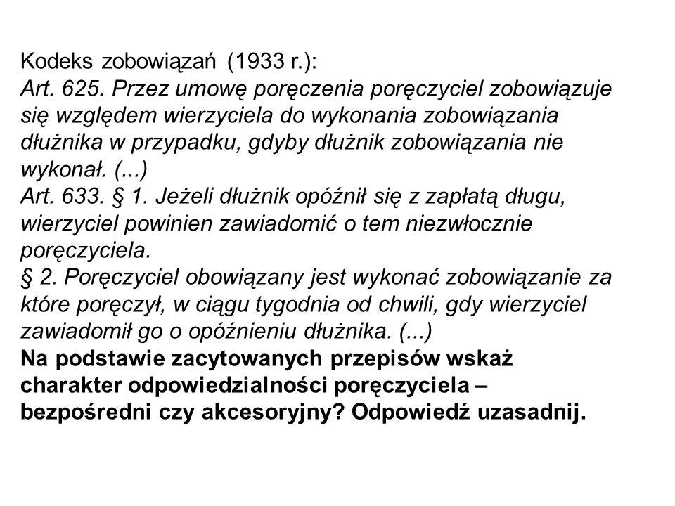 Kodeks zobowiązań (1933 r.):