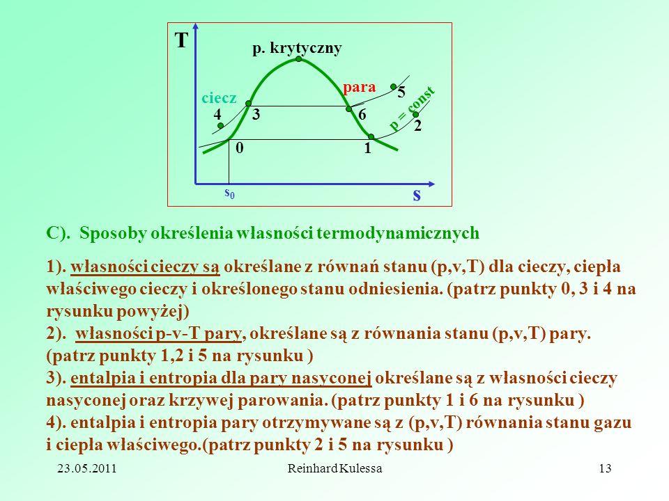T s C). Sposoby określenia własności termodynamicznych