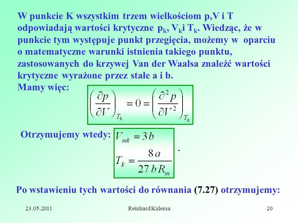 Po wstawieniu tych wartości do równania (7.27) otrzymujemy: