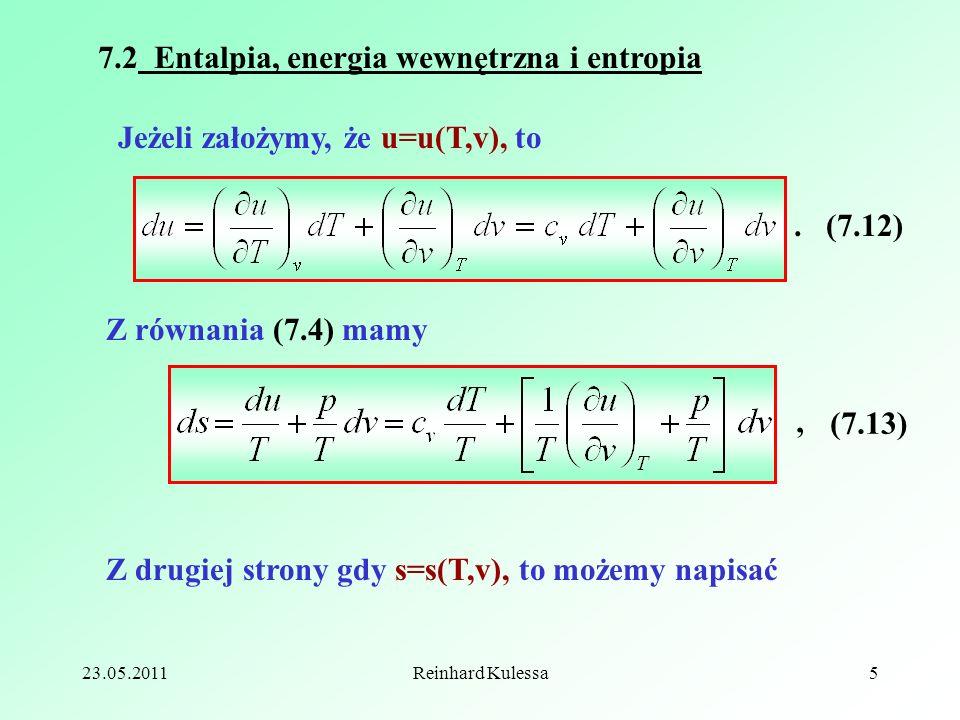 7.2 Entalpia, energia wewnętrzna i entropia