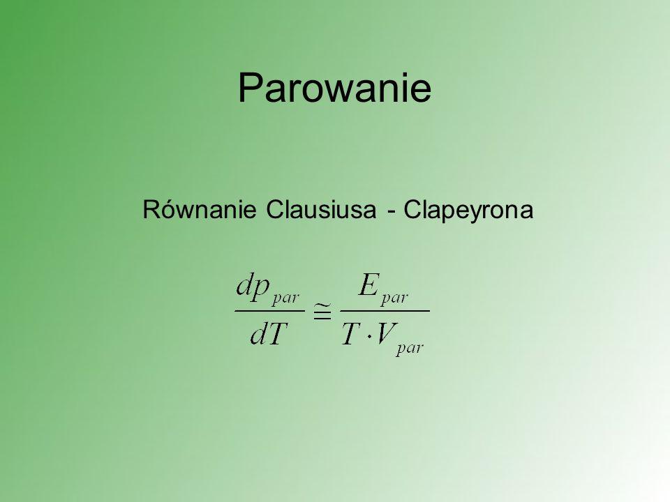 Równanie Clausiusa - Clapeyrona