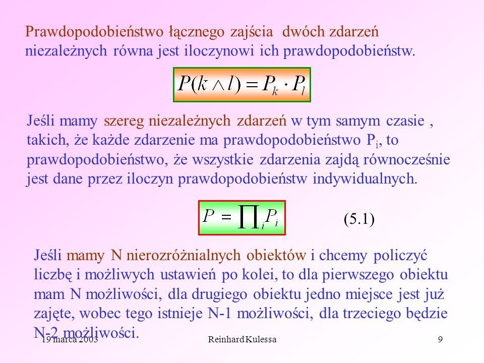 Prawdopodobieństwo łącznego zajścia dwóch zdarzeń niezależnych równa jest iloczynowi ich prawdopodobieństw.