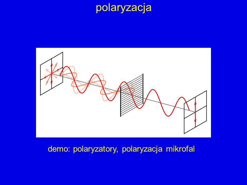 demo: polaryzatory, polaryzacja mikrofal