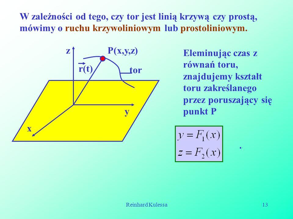 W zależności od tego, czy tor jest linią krzywą czy prostą, mówimy o ruchu krzywoliniowym lub prostoliniowym.