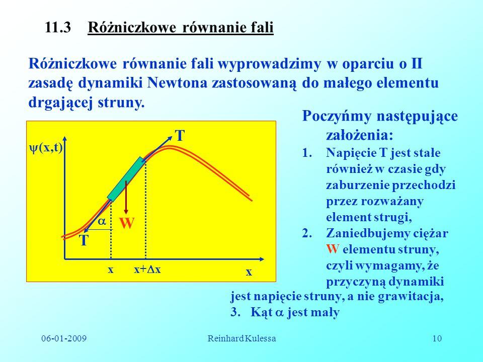 11.3 Różniczkowe równanie fali