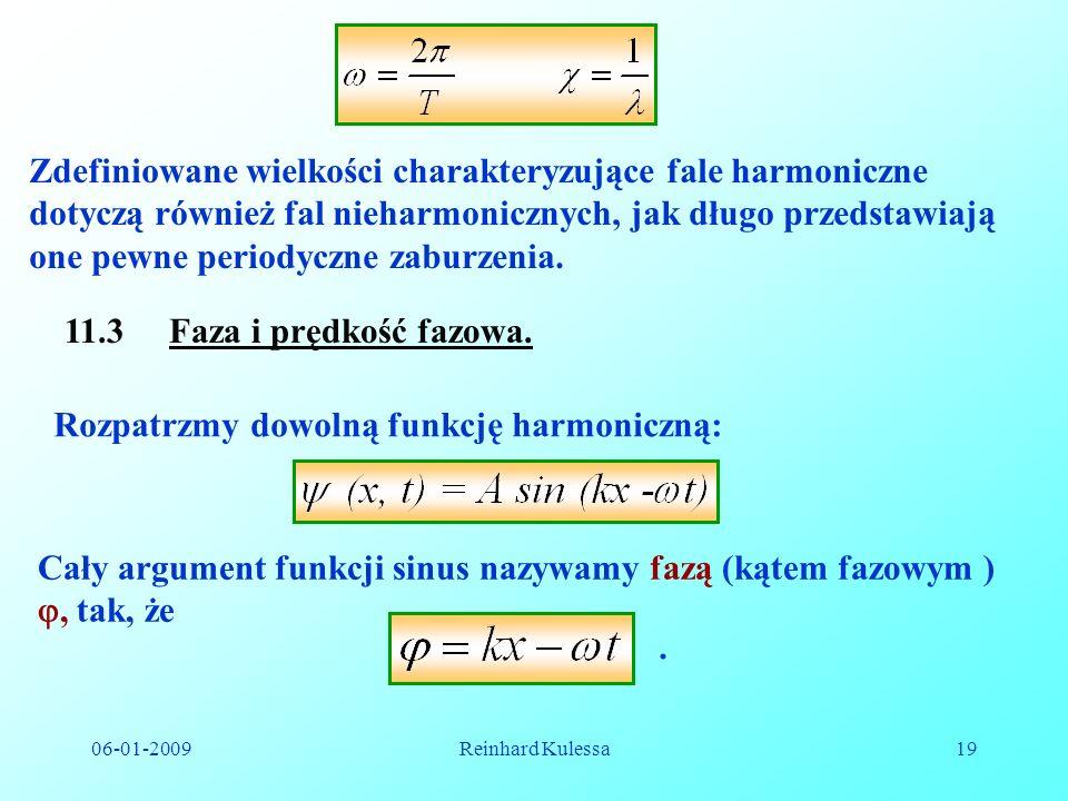 Rozpatrzmy dowolną funkcję harmoniczną: