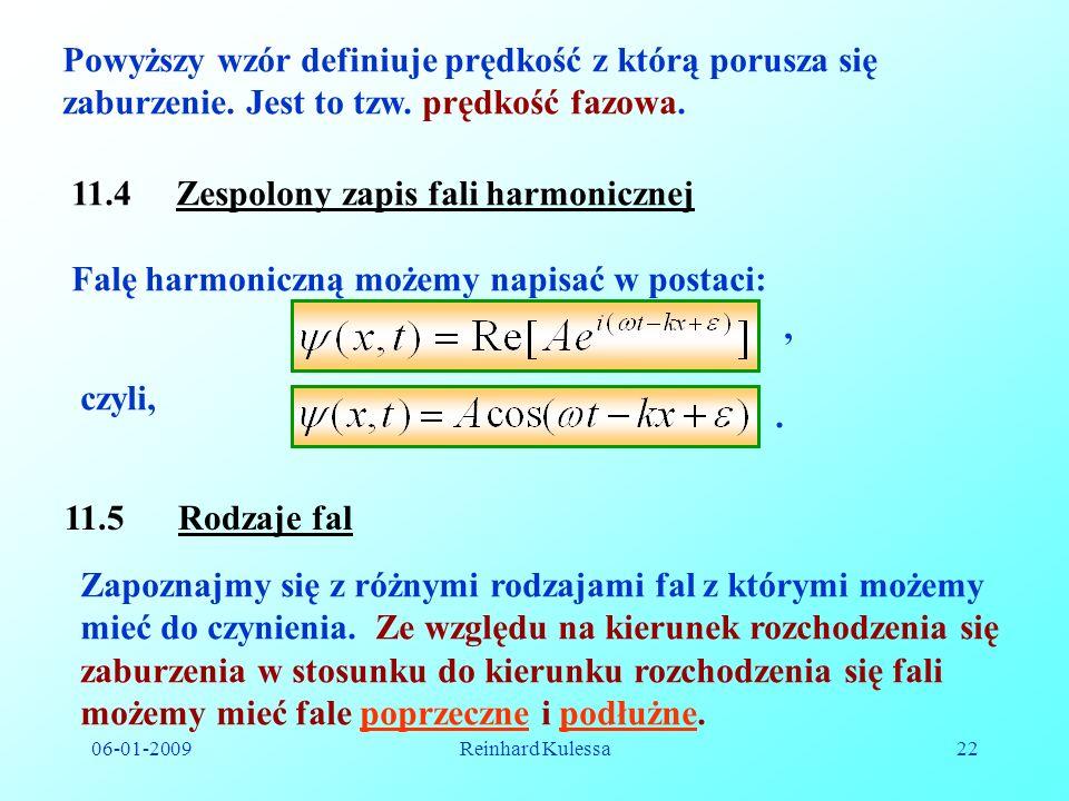 11.4 Zespolony zapis fali harmonicznej
