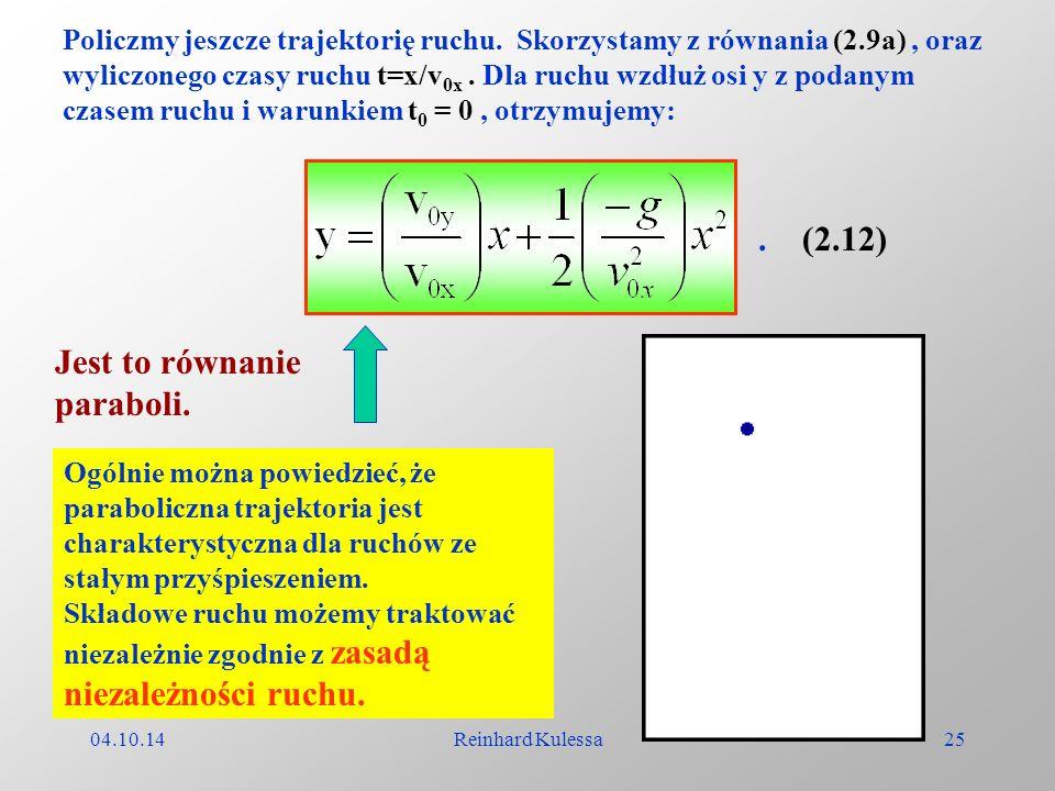 Jest to równanie paraboli.