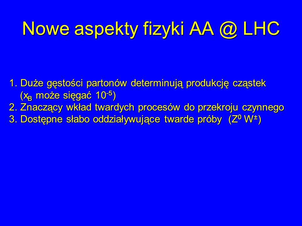 Nowe aspekty fizyki AA @ LHC
