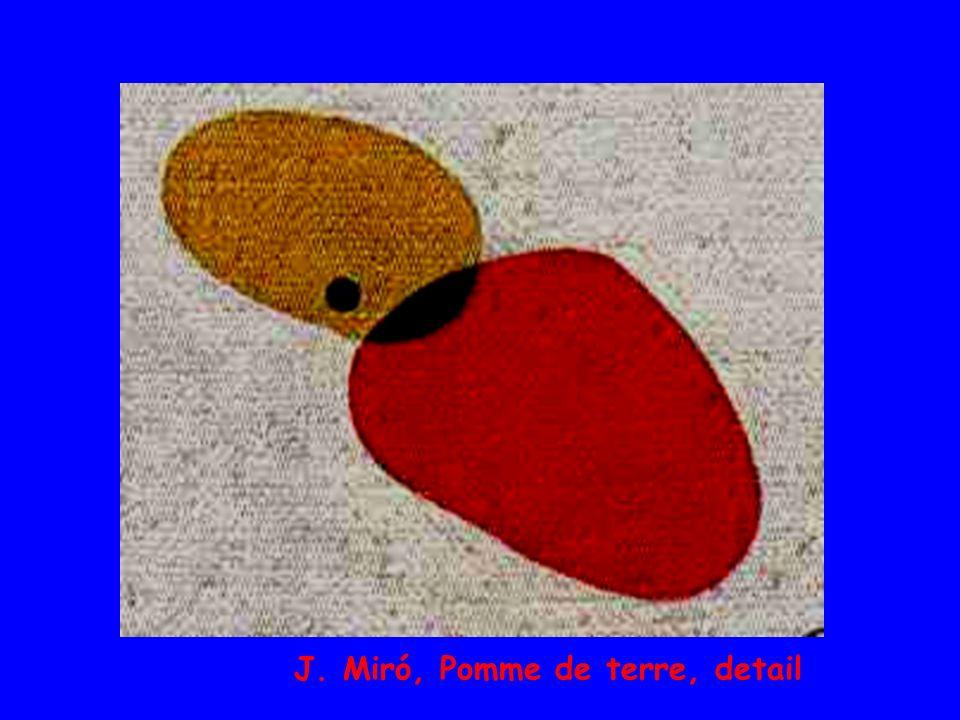 J. Miró, Pomme de terre, detail