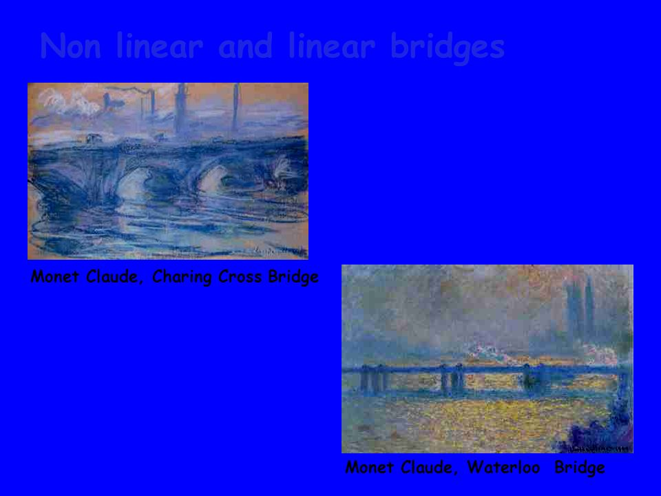 Non linear and linear bridges