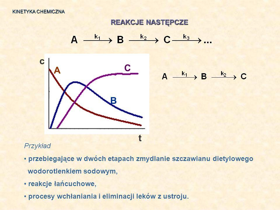 c C A B t REAKCJE NASTĘPCZE Przykład