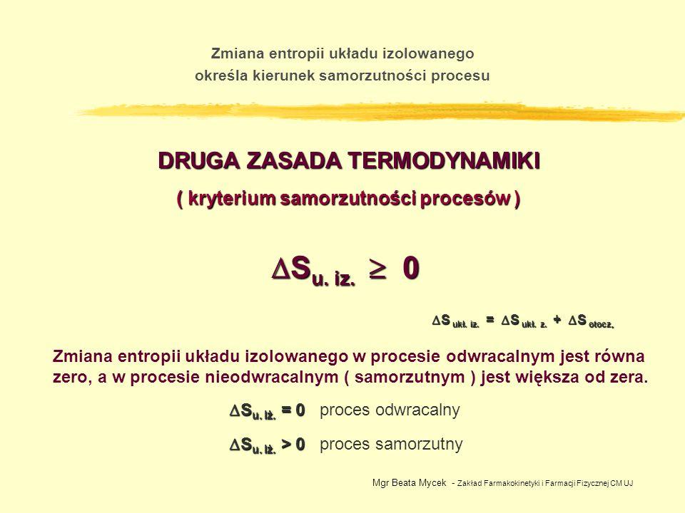 Su. iz.  0 DRUGA ZASADA TERMODYNAMIKI