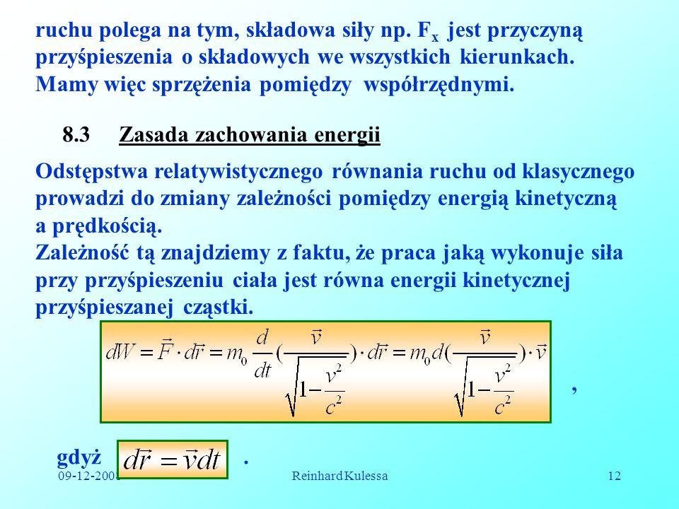8.3 Zasada zachowania energii