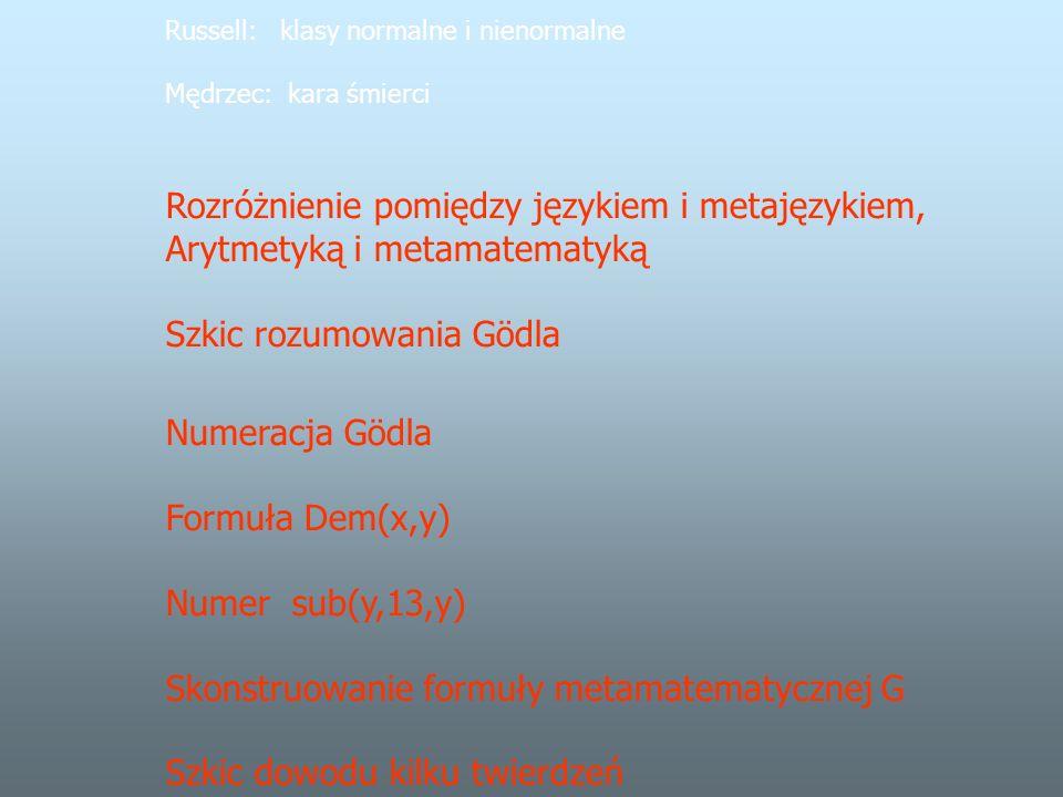 Rozróżnienie pomiędzy językiem i metajęzykiem,