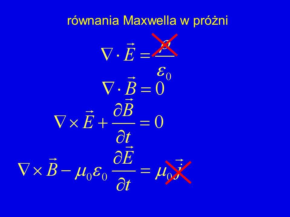 równania Maxwella w próżni