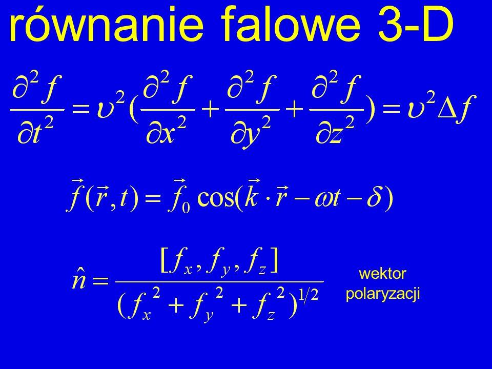 równanie falowe 3-D wektor polaryzacji