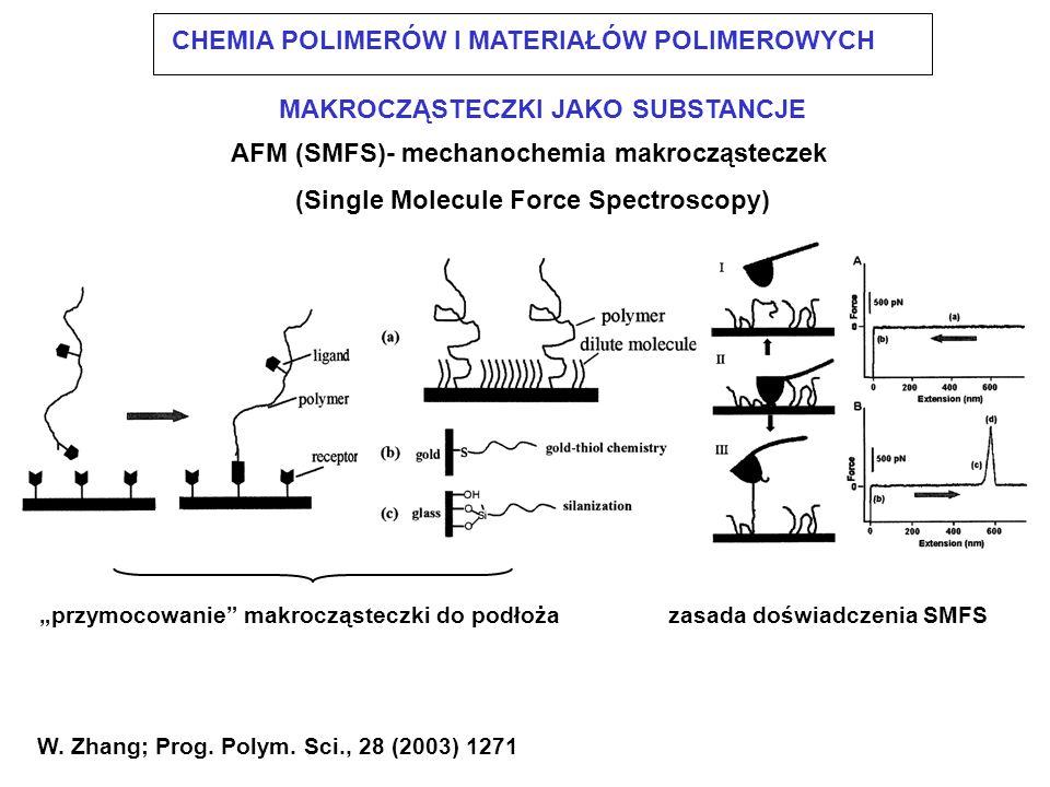 AFM (SMFS)- mechanochemia makrocząsteczek