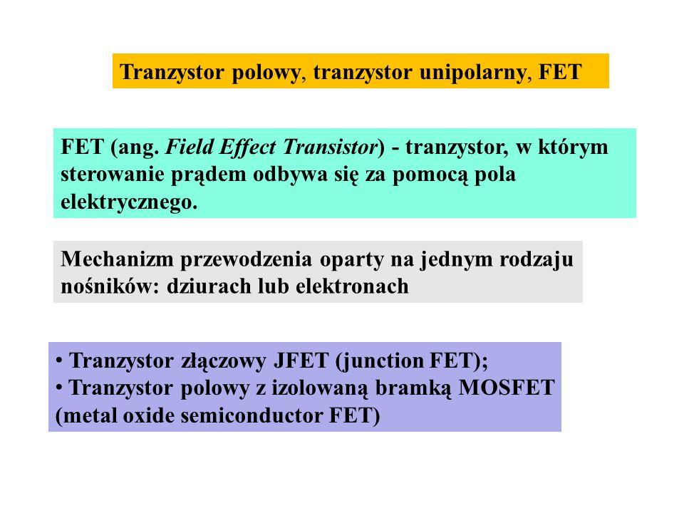 Tranzystor polowy, tranzystor unipolarny, FET