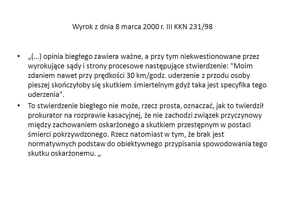 Wyrok z dnia 8 marca 2000 r. III KKN 231/98