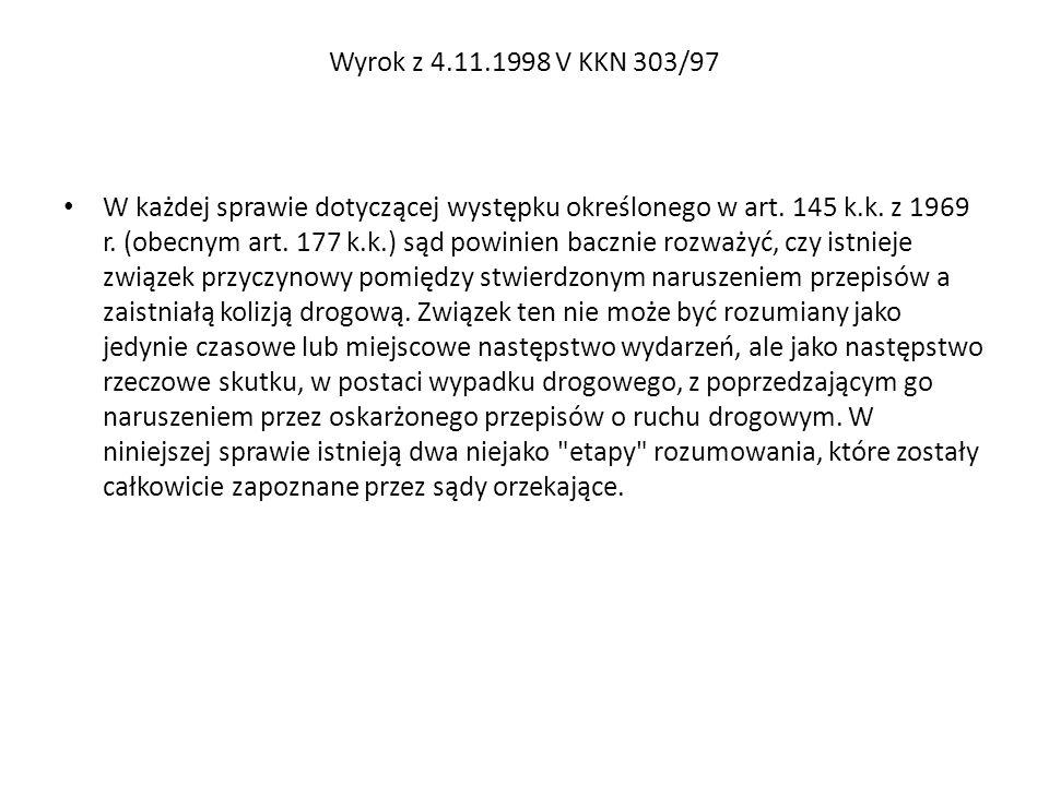 Wyrok z 4.11.1998 V KKN 303/97