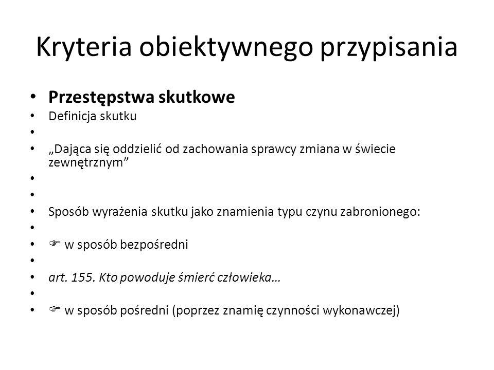Kryteria obiektywnego przypisania