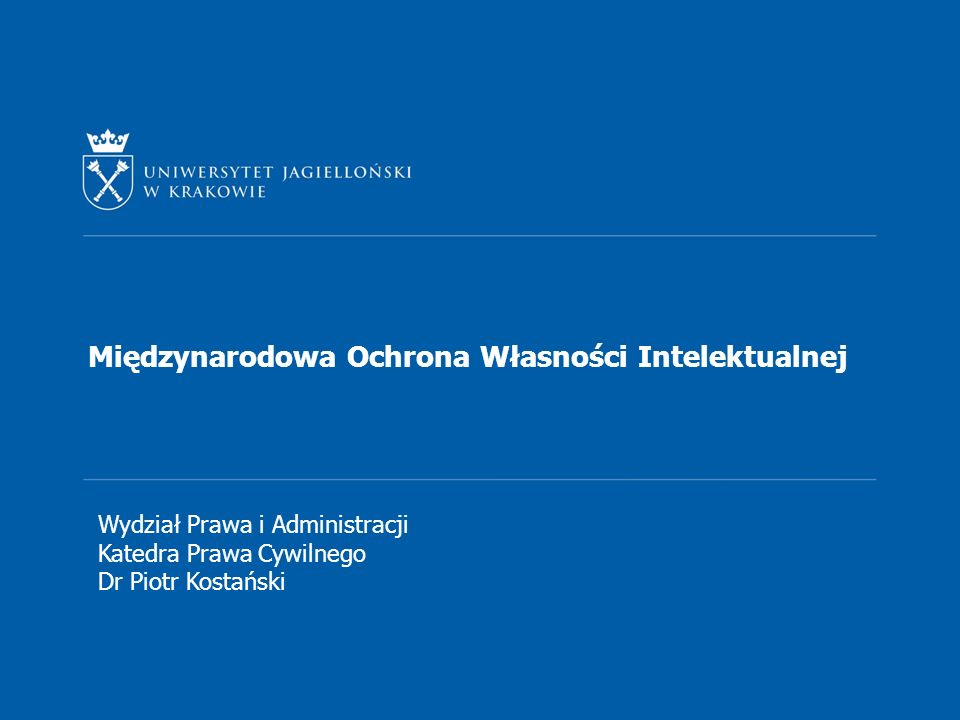 Międzynarodowa Ochrona Własności Intelektualnej