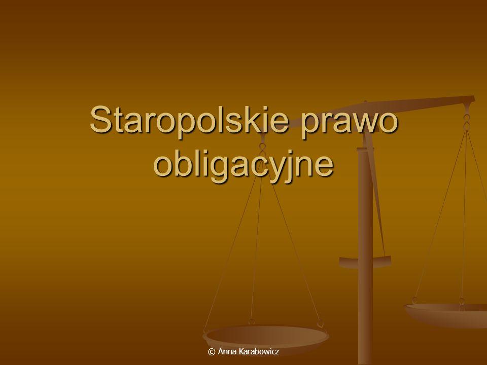 Staropolskie prawo obligacyjne