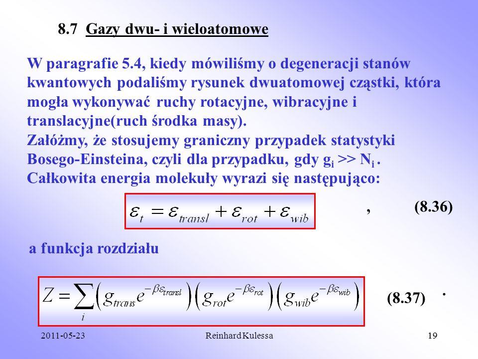 8.7 Gazy dwu- i wieloatomowe