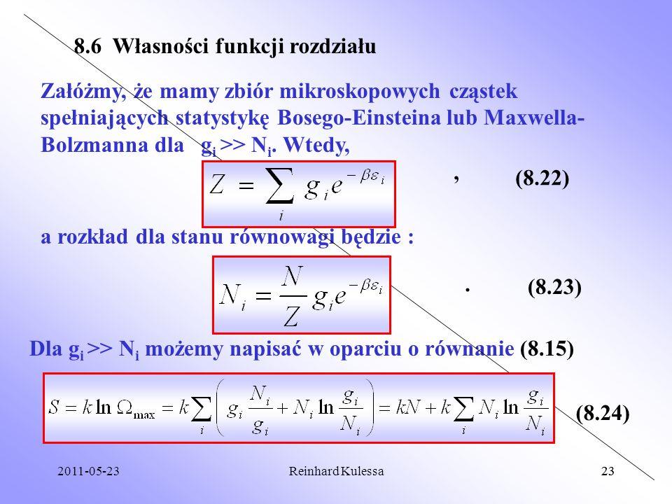 8.6 Własności funkcji rozdziału
