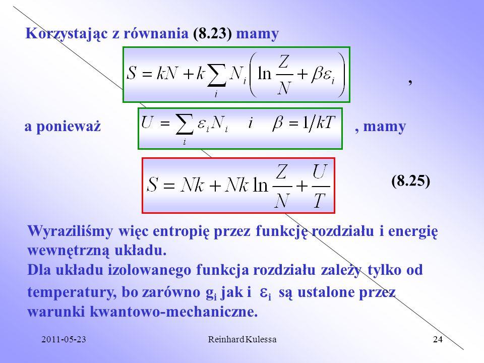 Korzystając z równania (8.23) mamy