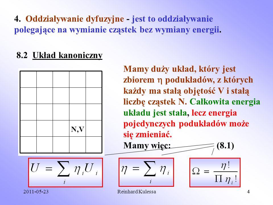 4. Oddziaływanie dyfuzyjne - jest to oddziaływanie polegające na wymianie cząstek bez wymiany energii.