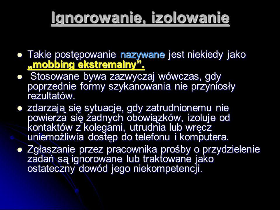 Ignorowanie, izolowanie