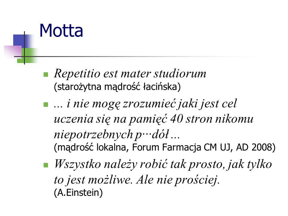 Motta Repetitio est mater studiorum (starożytna mądrość łacińska)