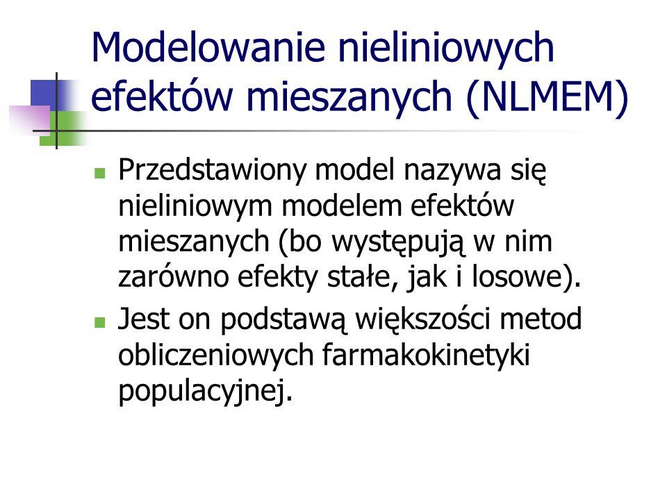 Modelowanie nieliniowych efektów mieszanych (NLMEM)