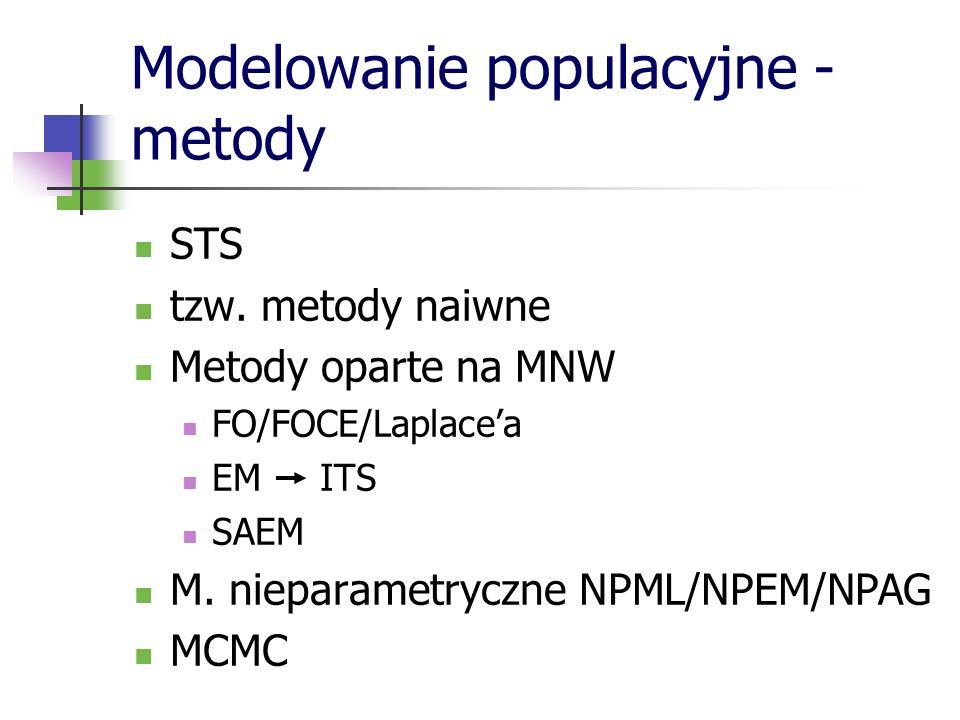 Modelowanie populacyjne - metody