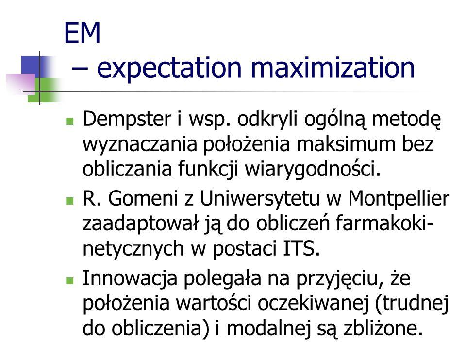 EM – expectation maximization