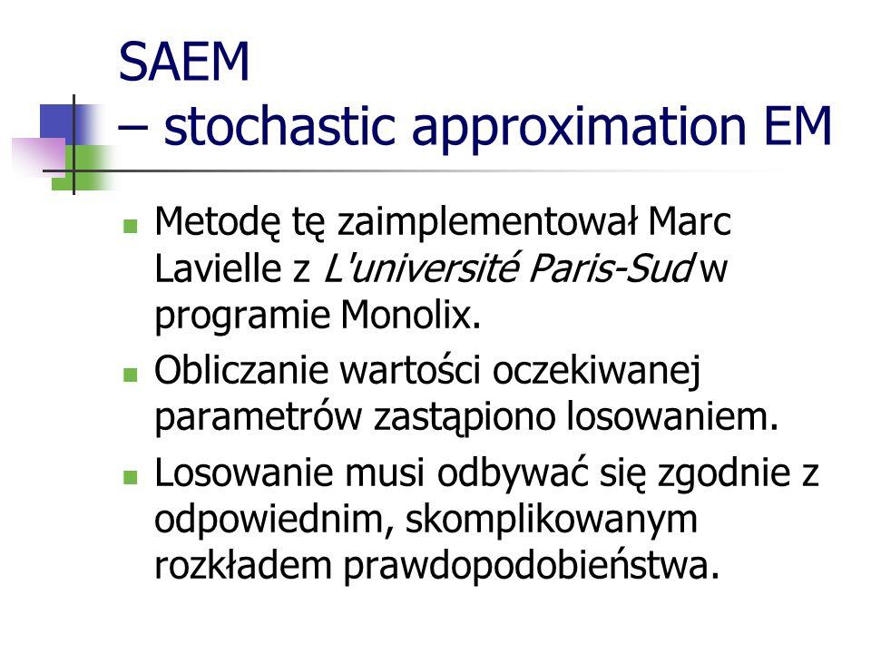 SAEM – stochastic approximation EM