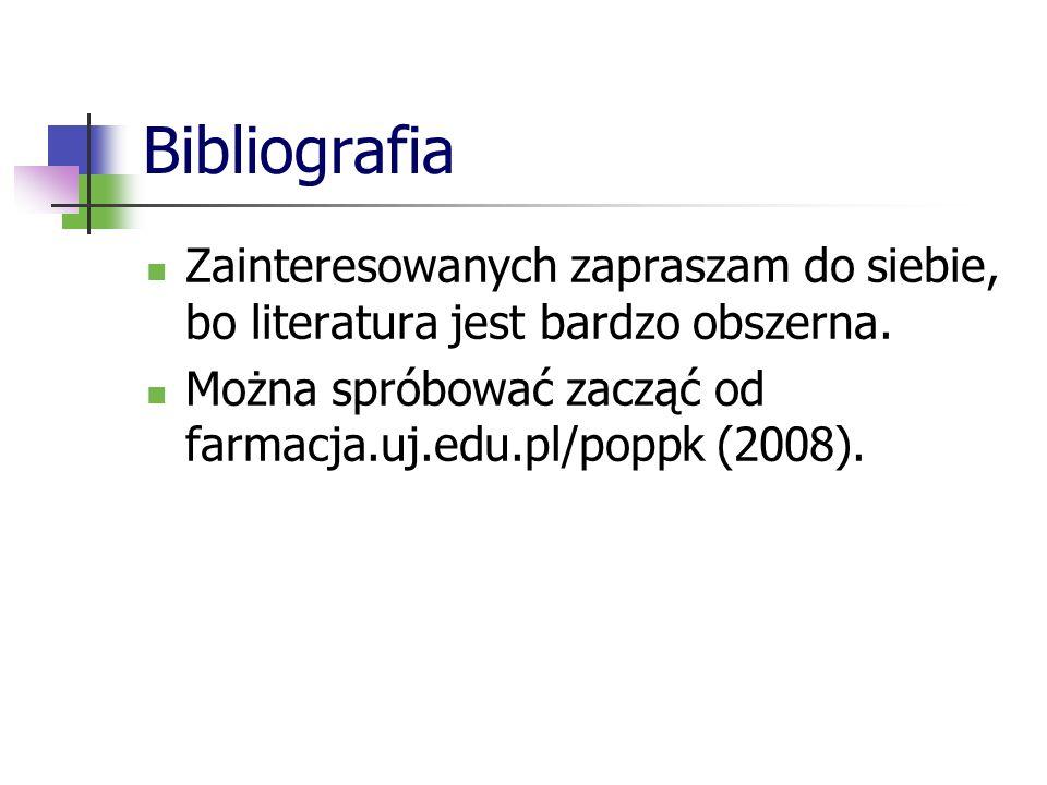 Bibliografia Zainteresowanych zapraszam do siebie, bo literatura jest bardzo obszerna.