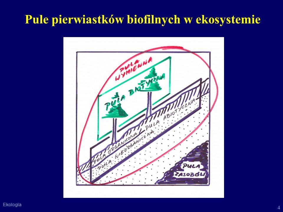 Pule pierwiastków biofilnych w ekosystemie