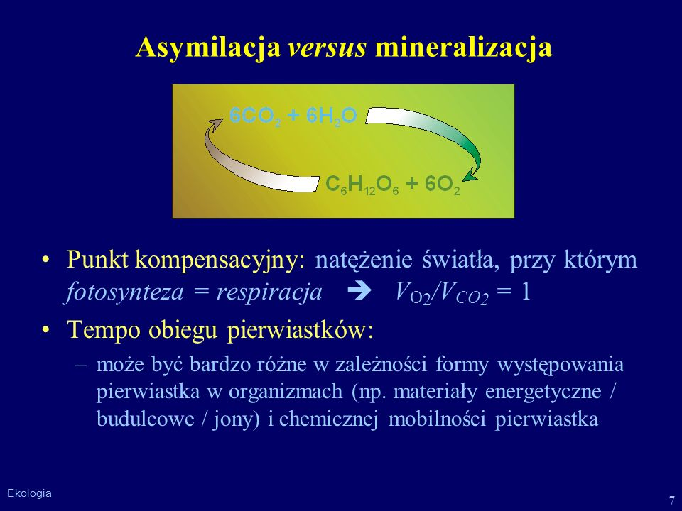 Asymilacja versus mineralizacja