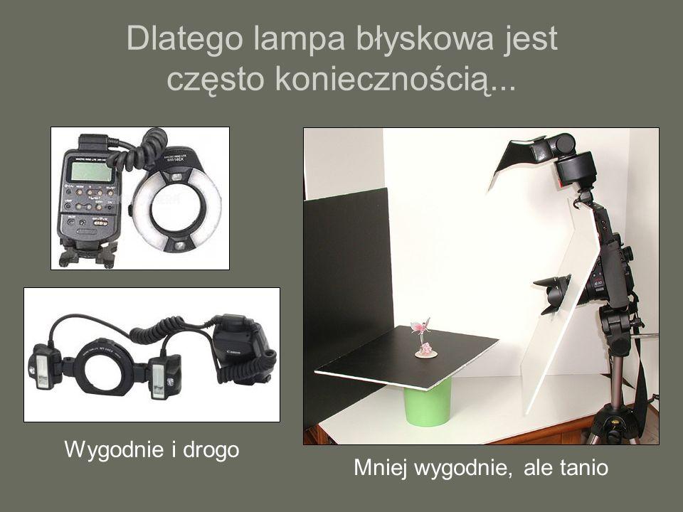 Dlatego lampa błyskowa jest często koniecznością...