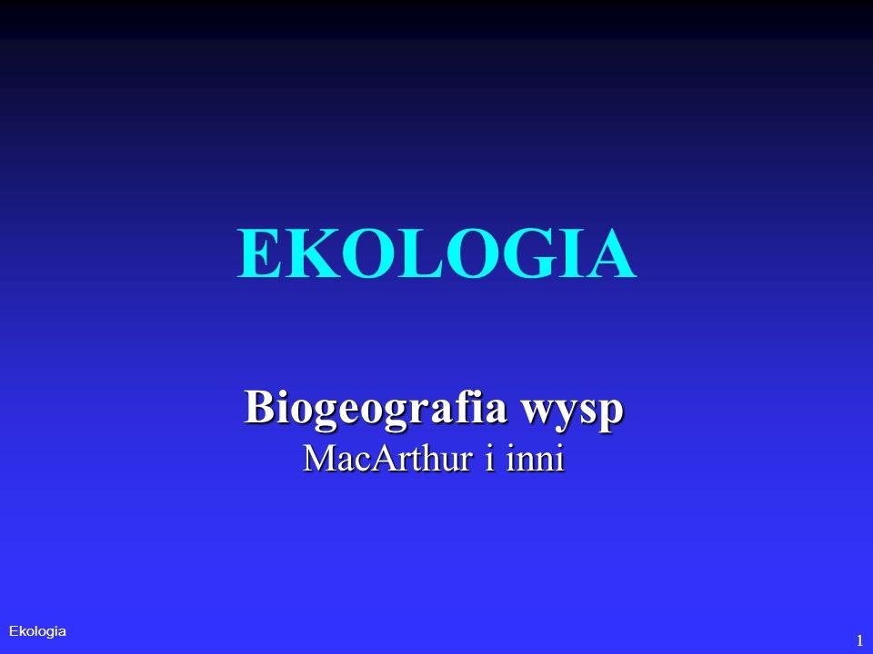 Biogeografia wysp MacArthur i inni