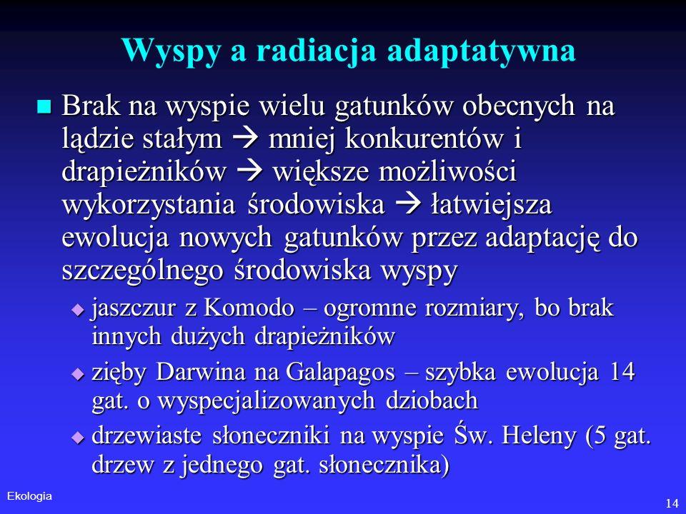 Wyspy a radiacja adaptatywna