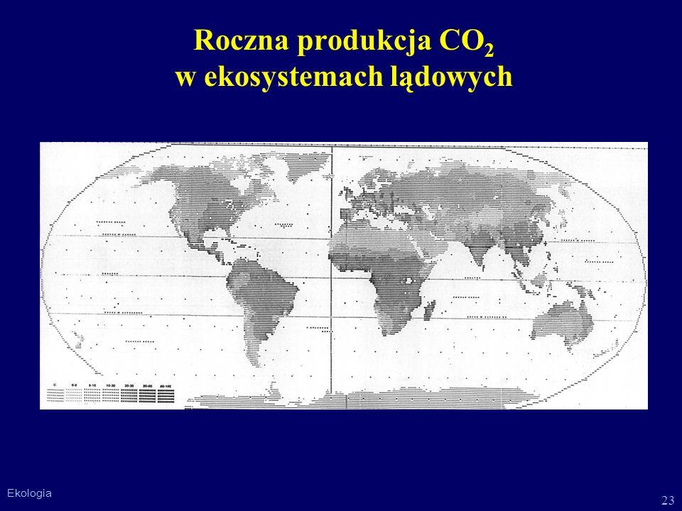 Roczna produkcja CO2 w ekosystemach lądowych