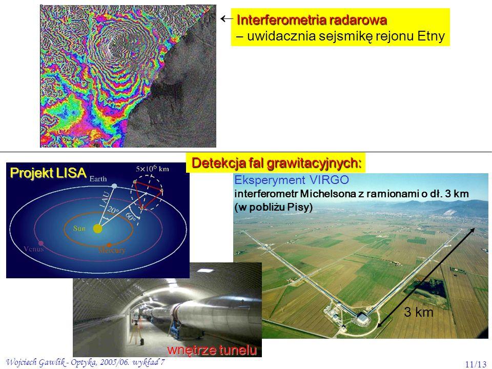 Interferometria radarowa – uwidacznia sejsmikę rejonu Etny 
