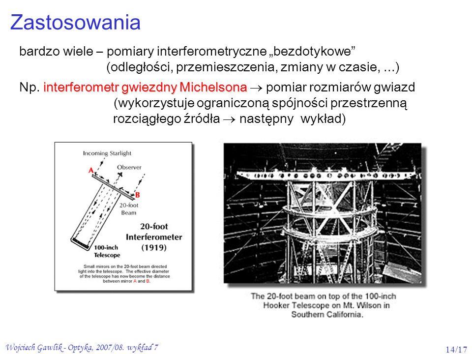 """Zastosowania bardzo wiele – pomiary interferometryczne """"bezdotykowe"""