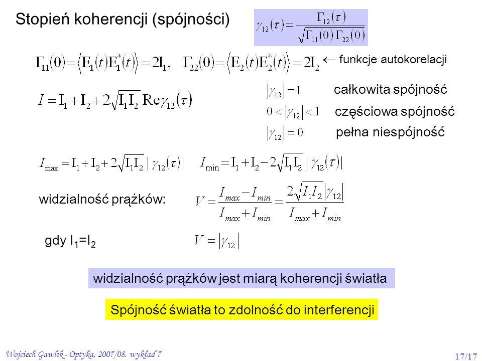 Stopień koherencji (spójności)
