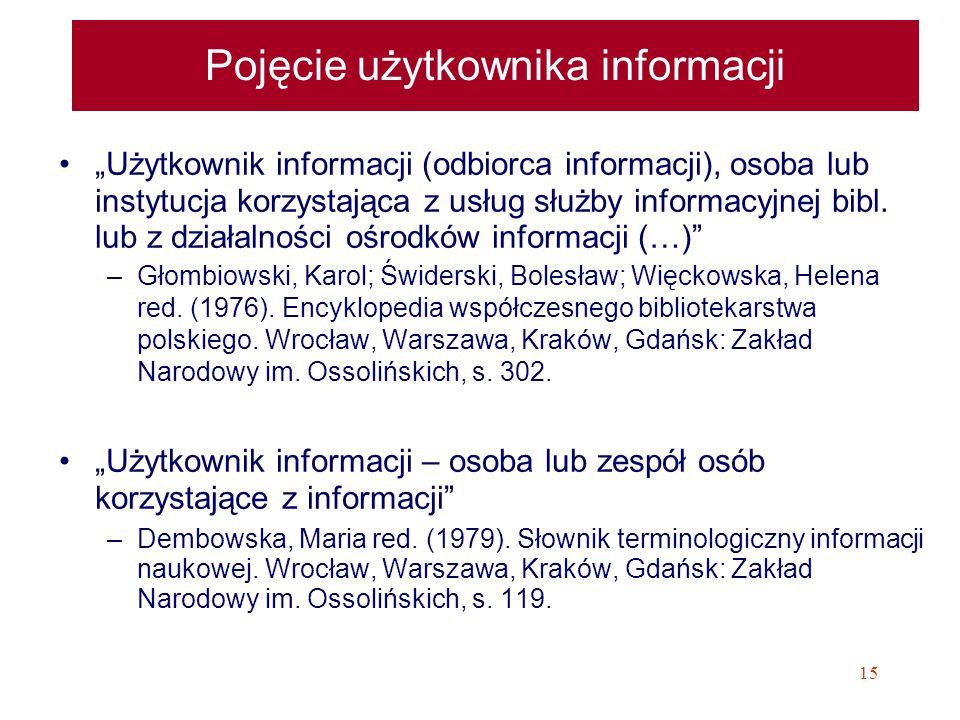 Pojęcie użytkownika informacji