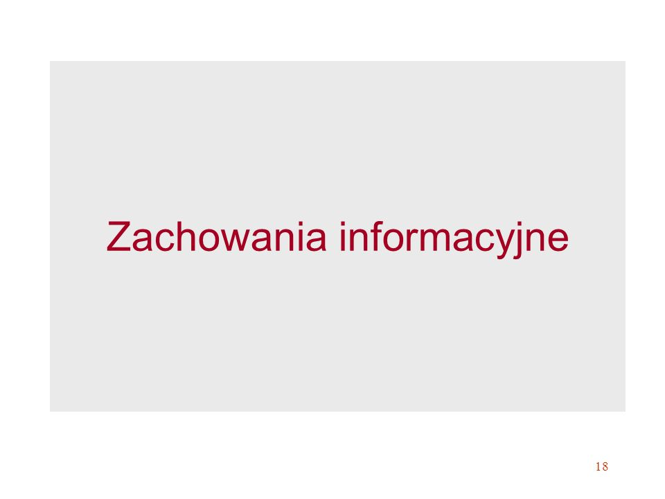Zachowania informacyjne